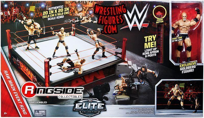Mattel Wwe Main Event Raw Elite Scale Ring Insider Video